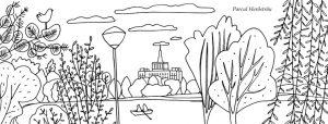 Parcul Herastrau, plansa de colorat - Bucuresti Centenar