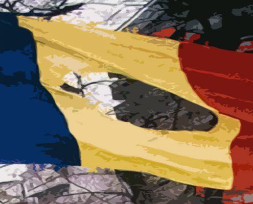Copilul imbracat in steag - Bucuresti Centenar