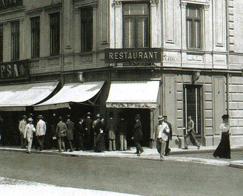 Meniu pentru capete incoronate, Restaurant Capsa- Bucuresti Centenar