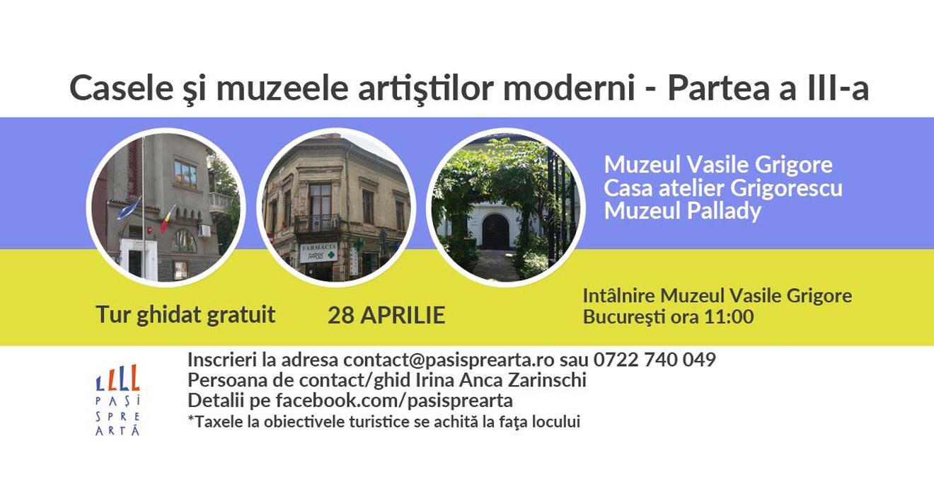 Eveniment Casele si muzeele artistilor moderni - bucuresti centenar