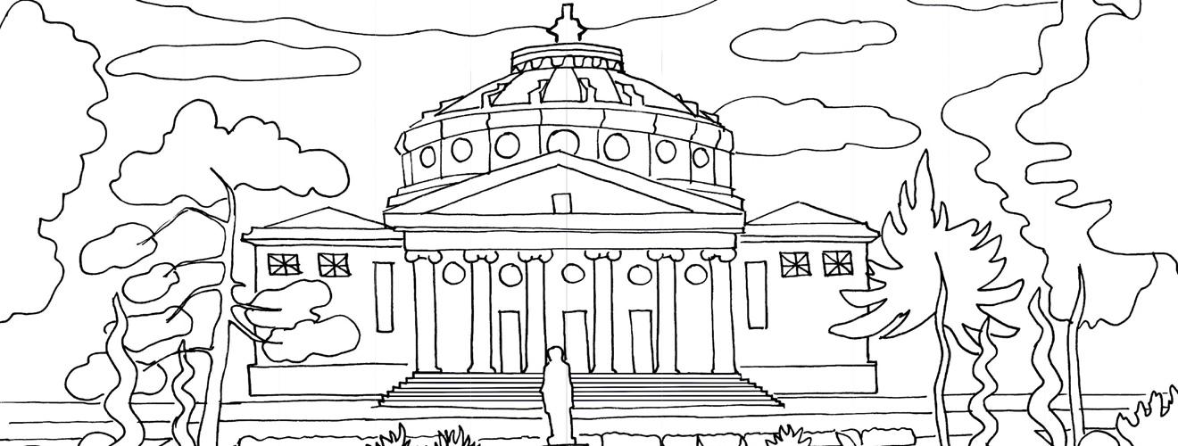 Plansa de colorat, Ateneul Roman - Bucuresti Centenar