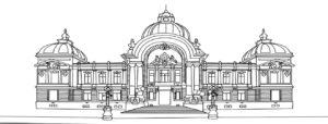 Plansa de colorat - CEC - bucuresti centenar