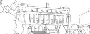 Cercul Militar - Bucuresti Centenar, plansa de colorat