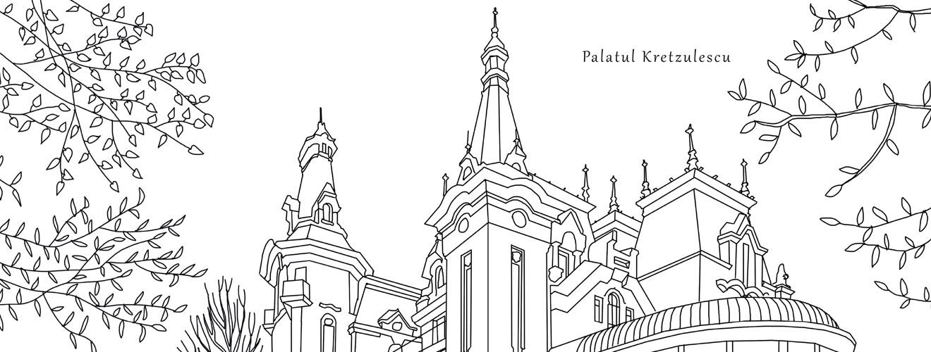 Palatul Kretzulescu, plansa de colorat - Bucuresti Centenar
